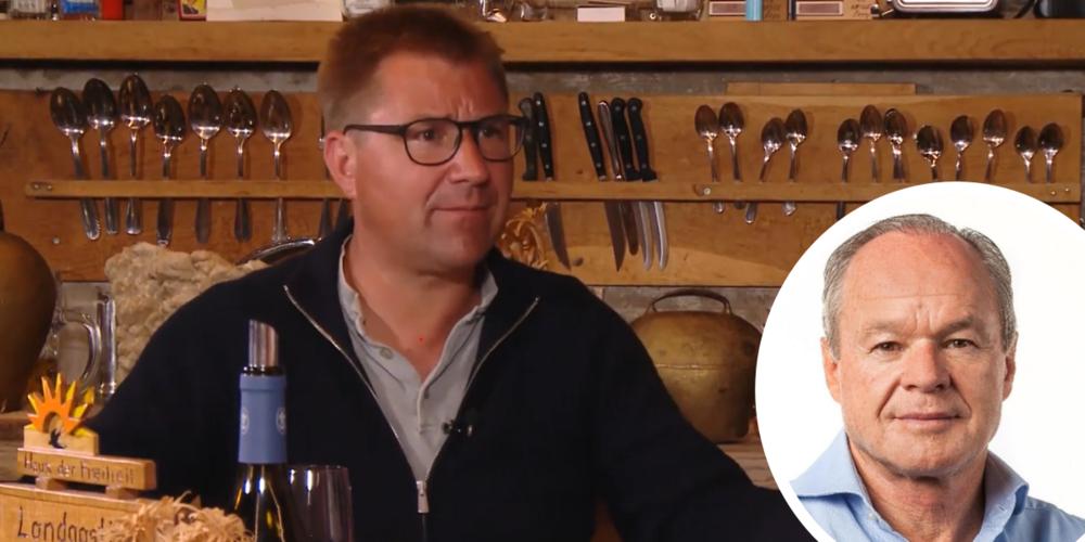 Ex-SVP-Präsident Toni Brunner im Gespräch mit Online-Verleger Bruno Hug.