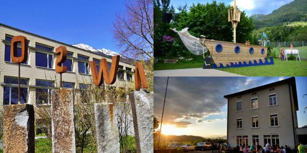 Die OSWA in Weesen (l.) und die Rondo Schule wurden für ihre kinder- und naturgerechten Pausenplätze ausgezeichnet.