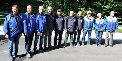 Der Schützenverein St.Margrethen holte sich den 2. Rang. Von links:  Christian Sturzenegger, Sepp Kläger, Kurt Hollenstein