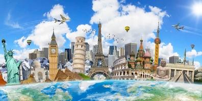 Viele Schweizerinnen und Schweizer lieben es, zu reisen und dabei neue Kulturen und Landschaften kennenzulernen.