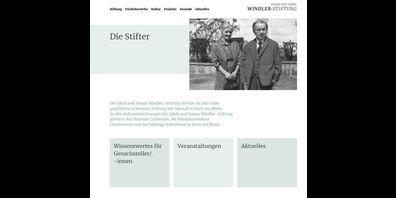 Die Startseite der neuen Webseite.