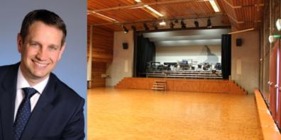 Peter Hüppi konnte 64 Stimmberechtigte zur Bürgerversammlung begrüssen (Bild: alter Gemeindesaal).