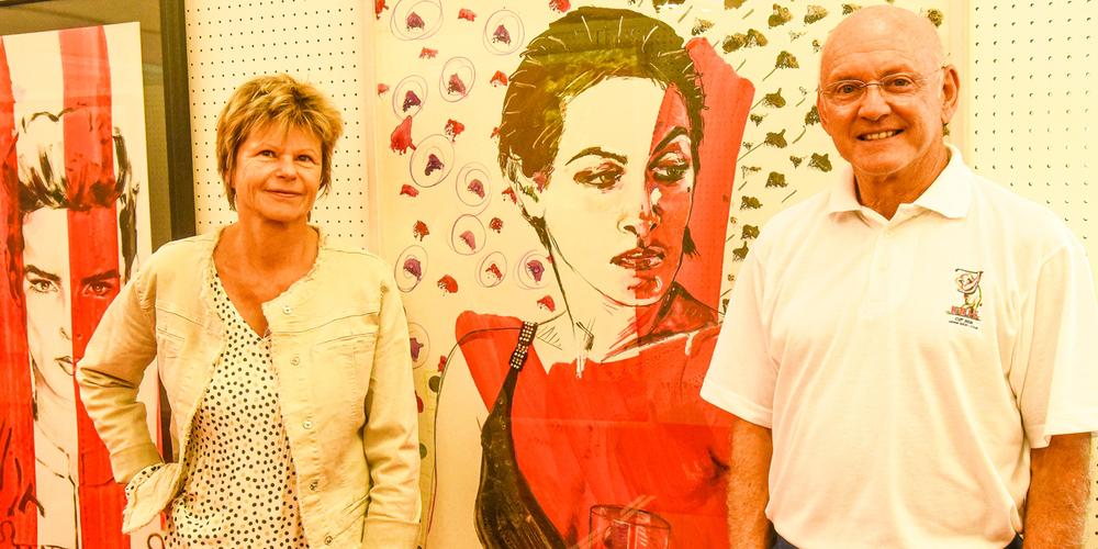 Rolf Knie und Brigitte Neeser, Galeristin.