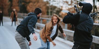 Die Ronentobelbrücke war mehrere Tage Schauplatz für einen Thriller.  Bild mit SLGView-App scannen und reinschnuppern.