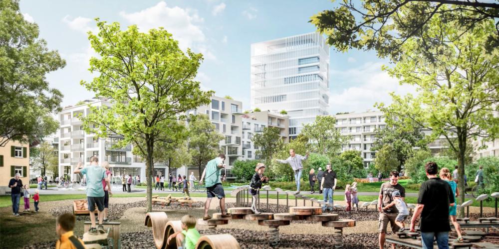 Das geplante 52-Meter-Hochhaus in Uznach sorgt für Gesprächsstoff bei der Bevölkerung.