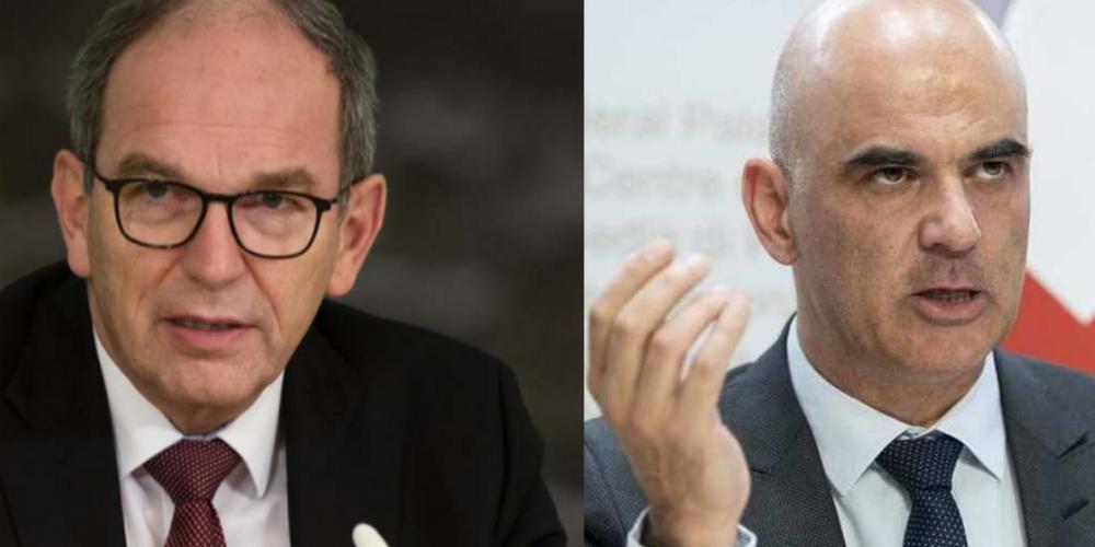 Regierungspräsident Bruno Damann und Bundesrat Alain Berset
