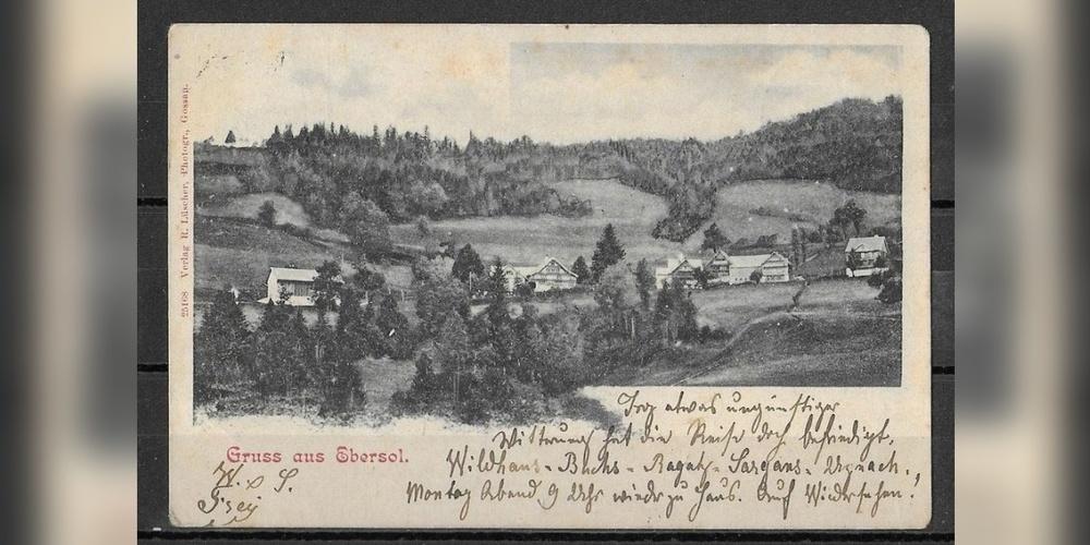 Dieses Jahr geht's nach Ebersol. Postkarte von 1902.