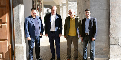 Gaudenz Domenig, David Trümpler, Peter Lang und Simon Berger.