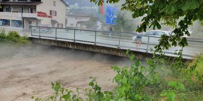 Der Spreitenbach in Lachen tobt.