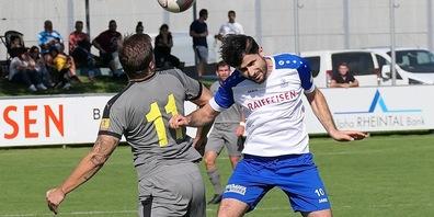 Der FC St.Margrethen, hier Mittelfeldspieler Fatlum Aliu, wird gegen Schluein-Ilanz viele verletzte Spieler ersetzen müssen