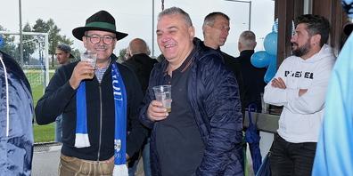 FCW-Präsident Kuno Jocham (li.) und Sportchef Markus Hutter nutzten die Gelegenheit für eine Matchnachbetrachtung