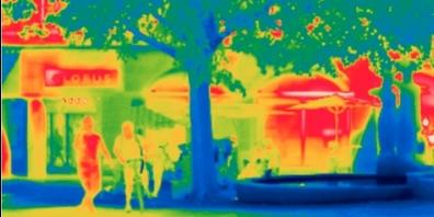 Das Wärmebild zeigt, wo's besonders heiss wird