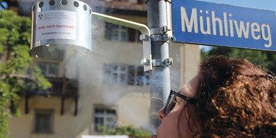 Stickstoffdioxidmessung in Schiers seit 1989.