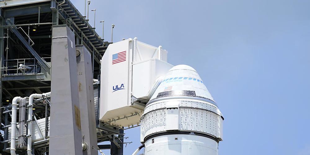 """Start verschoben: Die """"Starliner""""-Kapsel vor dem zweiten unbemannten Testflug in Cape Canaveral."""