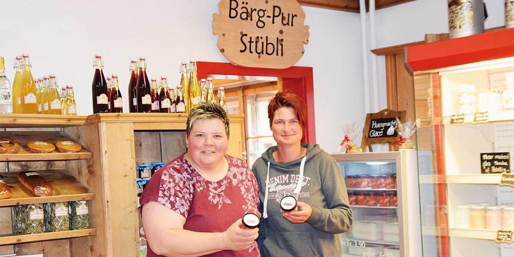 Marianne Tomaschett und Marianne Tanner produzieren seit Kurzem eigenes Glace.