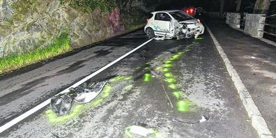 Der 17-jährige Unfallverursacher entfernte sich nachdem Unfall zu Fuss.