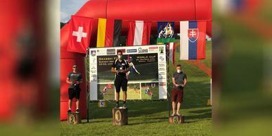 Mirko Hüppi steigerte sich im Sprintslalom von Lauf zu Lauf und durfte sich schlussendlich über den 1. Platz freuen.