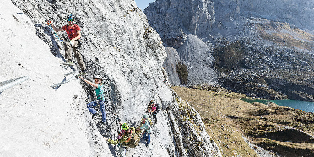 Familien-Klettersteig Partnunblick.
