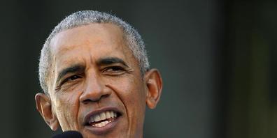Der frühere US-Präsident Barack Obama spricht bei einem Wahlkampfauftritt vor der Gouverneurswahl im US-Bundesstaat Virgina.Welt sind an einem Wendepunkt») Foto: Steve Helber/AP/dpa