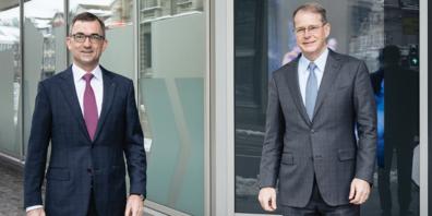 Von links nach rechts; Roland Ledergerber, Verwaltungsrat / Christian Schmid, neuer CEO