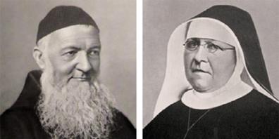 Sie begründeten die Ordensgemeinschaft der Ingenbohler Schwestern: Pater Theodosius Florentini und Mutter Maria Theresia Scherer.