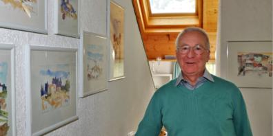 Vor 14 Jahren reiste Walter Koch in die Toscana. Die Bilder von dieser Reise zieren sein Wohnzimmer in Berneck.