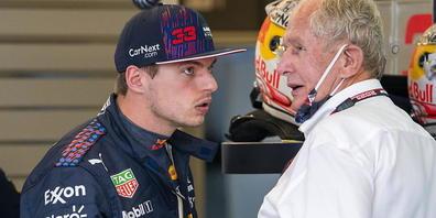 Max Verstappen (hier mit Team-Berater Helmut Marko) startet zum ersten Mal von ganz vorne zum Grand Prix der USA