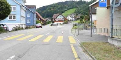 In Brunnadern kam es am Montag zu einem Unfall, als ein 9-jähriges Kind unvermittelt auf die Strasse rannte.