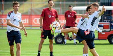 Dino Toppmöller (in rot) tritt als Assistent bei Bayern München nicht oft ins Rampenlicht - am Mittwoch coachte er die Bayern aber an Stelle des kranken Julian Nagelsmann zum Sieg