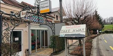"""Statt """"Heute offen"""" immer mehr """"Take away"""". Wie hier beim Restaurant Weierwis in Hauptwil."""