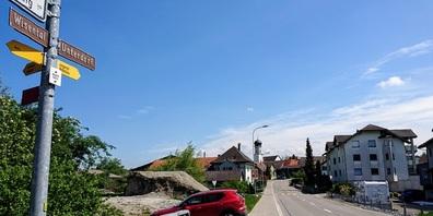 Strassensperrung am 2. Mai in Lenggenwil.