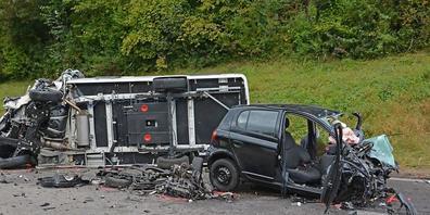 Bei der Frontalkollision in Roggwil wurden vier Personen verletzt, drei von ihnen schwer.