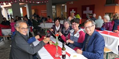 Die Rheinecker Bundesfeier war gut besucht