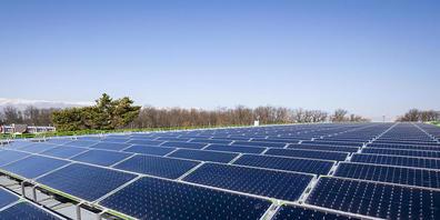 Solaranlage bei Genf: Der beschleunigte Zubau von Fotovoltaik spielt im Energie-Szenario 2050 des Stromkonzerns Axpo eine wichtige Rolle. (Archivbild)