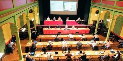 Das Wiler Stadtparlament tagt in der Tonhalle.
