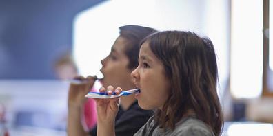 Wenn die ältere Schwester oder der ältere Bruder bereits Karies hatte, steigt die Wahrscheinlichkeit für die Zahnkrankheit auch bei den jüngeren Geschwistern. (Themenbild)
