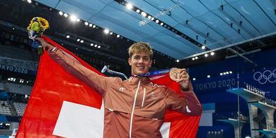 An den Olympischen Spielen in Tokio verblüffte Noè Ponti mit Bronze über 100 m Delfin