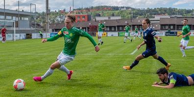 Elia Rosalen, hier im Spiel vom letzten Samstag gegen Etoile Carouge. Der 19-Jährige kommt aus der Brühler Juniorenabteilung.
