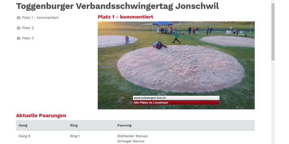 Schlussgang mit Werner Schlegel und Manuel Bollhalder im Live-Stream.