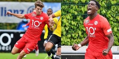 Der Vertrag mit Alessandro Casciato (l.) wurde um drei Jahre verlängert, der Vertrag mit Jordan Gele um zwei.