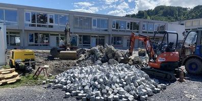 Neubau Schulhaus Wiesenau: Der Bezug des Kindergartens wurde auf Herbst verschoben.