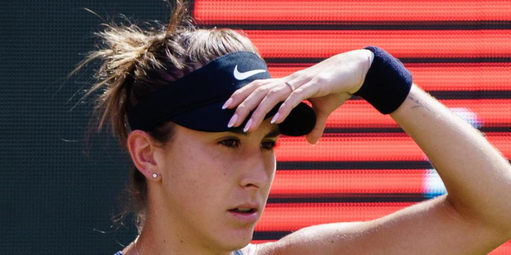 Belinda Bencic traut ihren Augen nicht: Die Russin Ludmila Samsonowa schiesst sie nach dem ersten Satz vom Platz