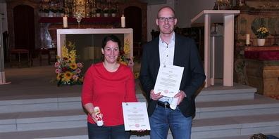 Die beiden Religionspädagogen Petra Fluri und Dominic Breu wurden im Berneck willkommen geheissen