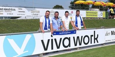 Das Viva-Work-Team: vl. Arif Akpinar,  Leonardo Ciardullo, Manuel Schmitter, Sascha Smakaus