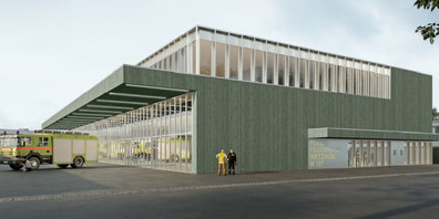 Das neue Feuerwehrgebäude soll an der Motorenstrasse 107 im ehemaligen VZO- Depot erstellt werden.
