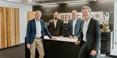 Geschäftsleitung und neue Belcolor-Eigentümer: v. l. Peter Jud, Joel Schneider, Robert Engel und Patrick Meier.