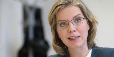 Österreichs Verkehrs- und Umweltministerin Leonore Gewessler ist heute der S18 wegen zu Besuch in Vorarlberg
