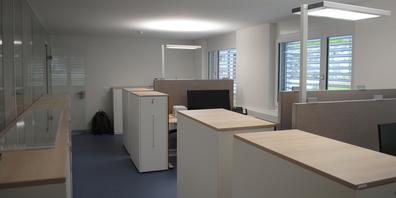 Die neuen Büroräumlichkeiten der Polizeistation Reiat in Thayngen.