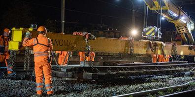 Bahnarbeiten der SBB