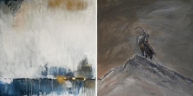 Zwei einzigartige Werke von Jaqueline Brühwiler.